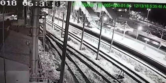 Ankara'da hızlı trenin çarpışma anı