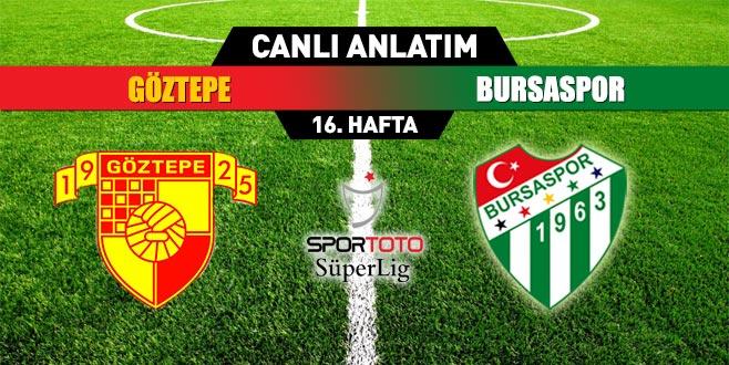 Göztepe 0 - 0 Bursaspor (CANLI ANLATIM)