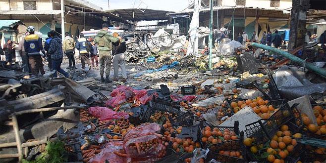 Afrin'de pazaryerine bomba yüklü araçla saldırı