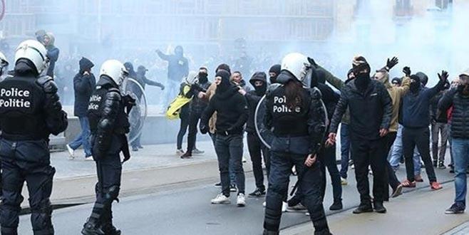 Belçika'da protestoculara müdahale