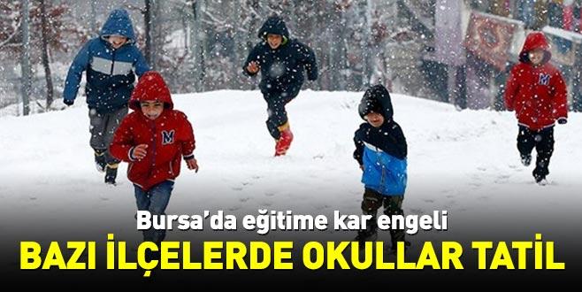 Bursa'da eğitime kar engeli! Bazı ilçelerde okullar tatil