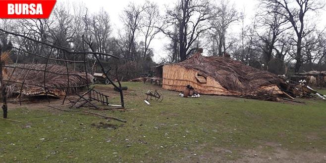 'Recep İvedik' seti yağış nedeniyle yıkıldı