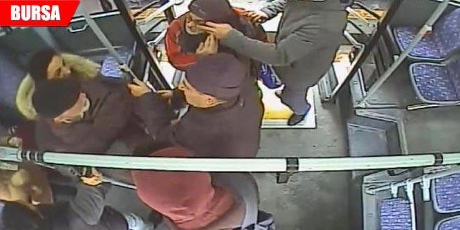Otobüsteki kavganın görüntüleri ortaya çıktı