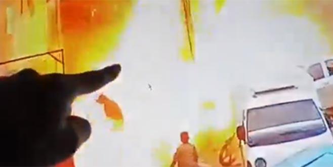 Münbiç'teki patlama sonrası ilk görüntüler