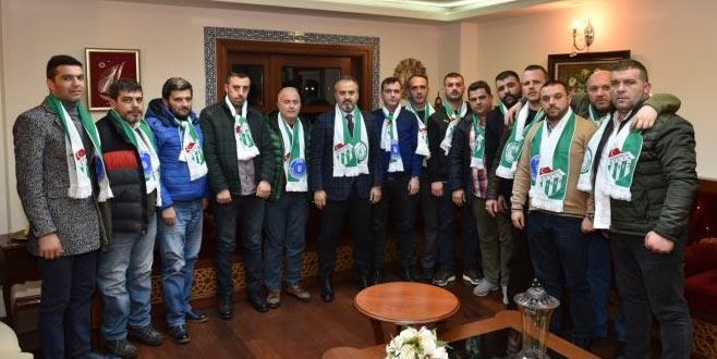 Aktaş Bursaspor taraftarıyla buluştu