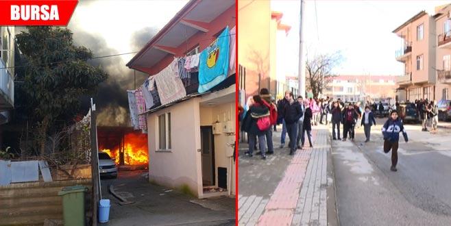 Yangın paniği! Okulun son günü korkuyu yaşadılar