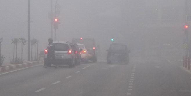 İnegöl'de yoğun sis
