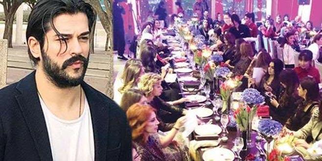 Aşkım Kapışmak'tan 80 kadınla yemek yiyen Burak Özçivit'e eleştiri