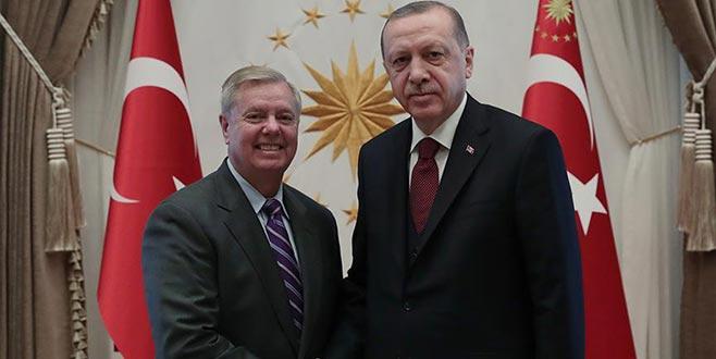 ABD'li senatör Lindsey Graham Beştepe'de