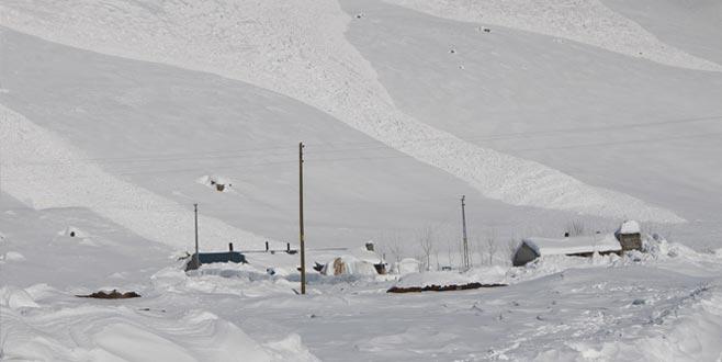 2 haftadır kar yağıyordu... İlçe merkezine çığ düştü