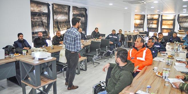 Belediye çalışanlarına ilk yardım eğitimi