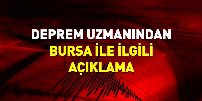 Deprem uzmanından Bursa ile ilgili açıklama