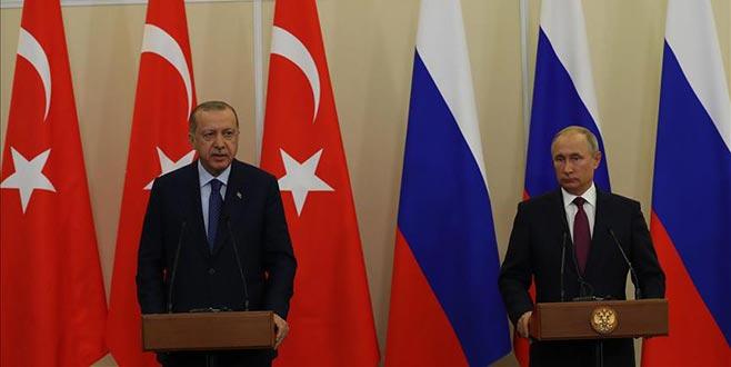 Cumhurbaşkanı Erdoğan ve Putin'den önemli açıklamalar