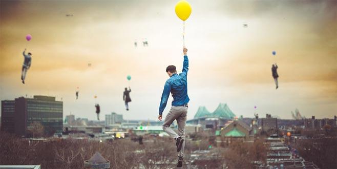 Gerçeküstü balon fotoğrafları