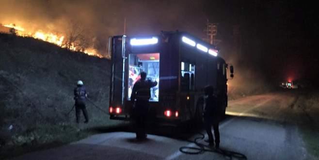Bursa'da yürekleri ağza getiren yangın!