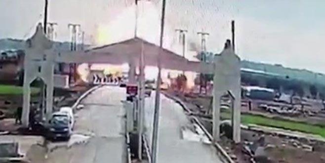 Kilis sınırındaki patlama anı kamerada