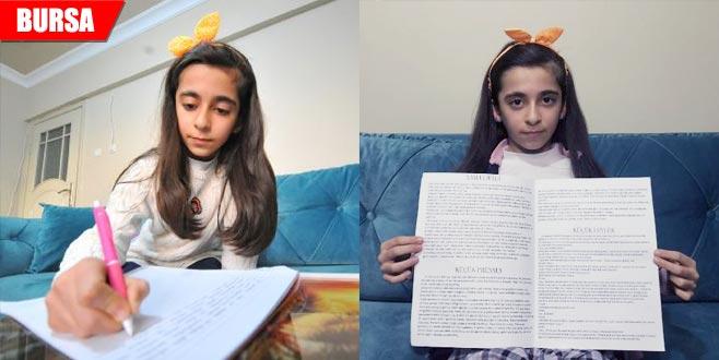Öğretmeni keşfetti! 9 yaşındaki Nergis'ten büyük başarı...