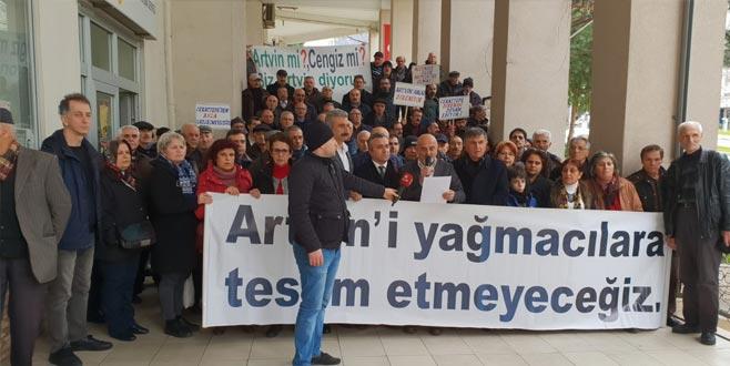 Bursa'daki Artvinliler'den Carattepe protestosu