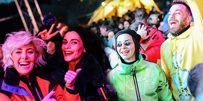 Uludağ'daki müzik festivaline ünlü akını