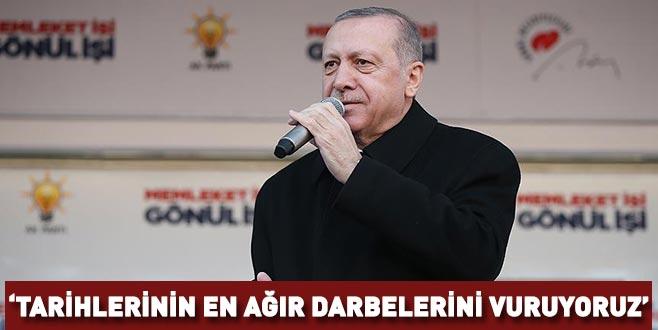 Cumhurbaşkanı Erdoğan: Terör örgütlerine tarihlerinin en ağır darbelerini vuruyoruz
