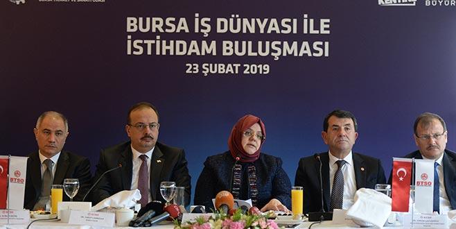 Bakanlık Bursa'da açıkladı: 8,3 milyon kişiye istihdam sağladık