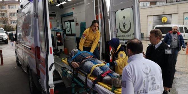 Fabrikada foseptiğe düşen işçi ağır yaralandı