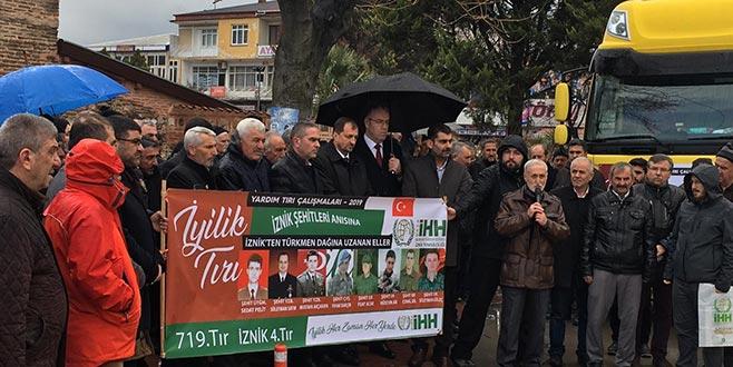 İznik'ten Türkmendağına yardım eli