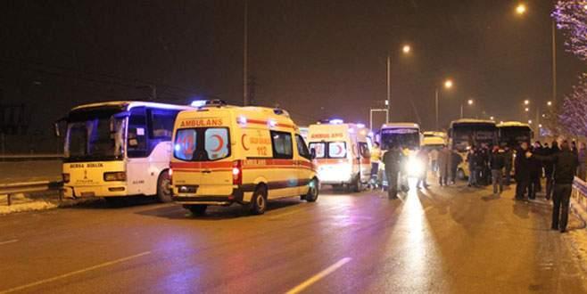 İzmir Yolu'nda göçük trafiği!