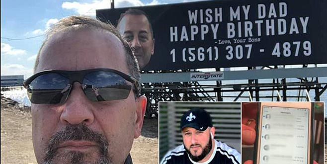 'Babamızın doğum gününü kutlayın'