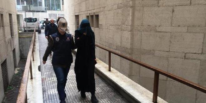 Bursa'da yakalanan DEAŞ'lı kadın terörist adliyede