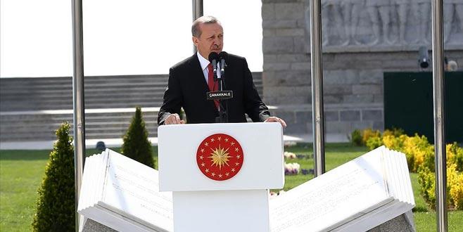 Erdoğan: Mesajınızı aldık, biz buradayız Çanakkale'deyiz