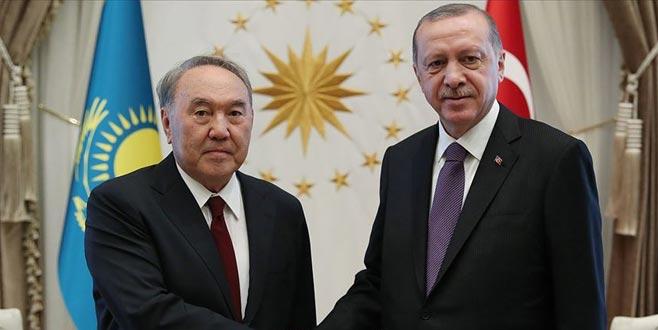 Erdoğan, Nazarbayev ile görüştü
