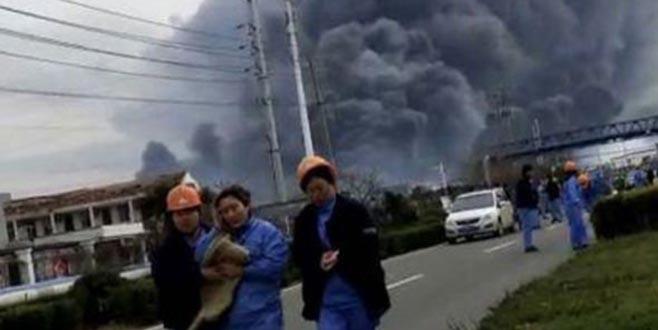 Çin'de kimyasaltesiste patlama