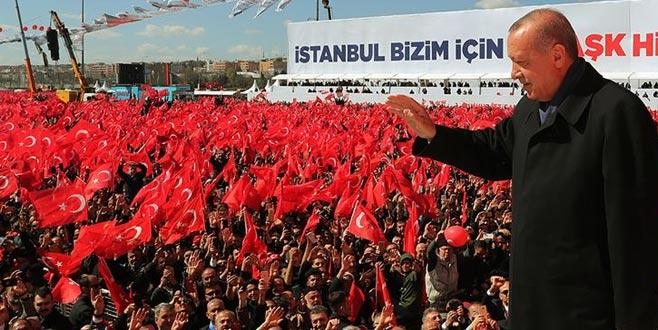 Erdoğan, mitinge kaç kişinin katıldığını açıkladı
