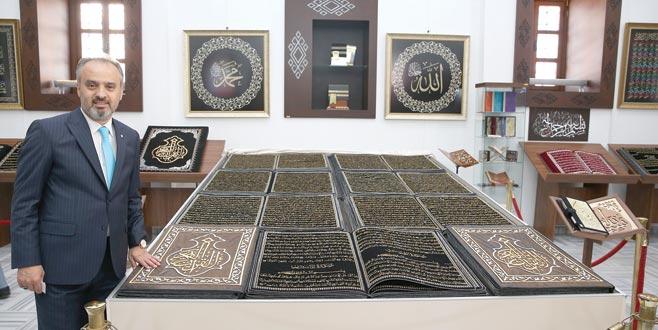 Kumaştan Kur'an-ı Kerim sergisi