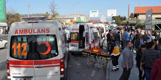İzmir'de trende patlama: 7 yaralı