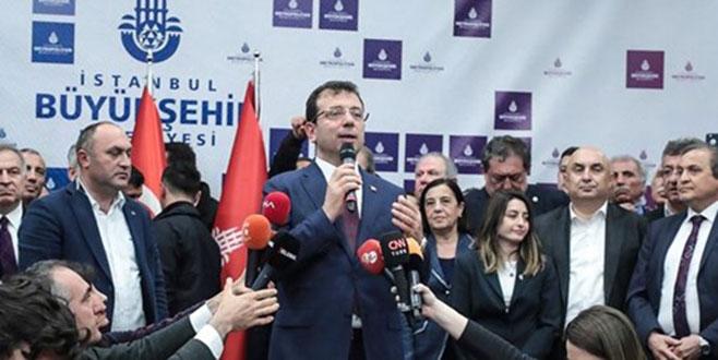Ekrem İmamoğlu'ndan belediye başkanlığı binasında ilk açıklama