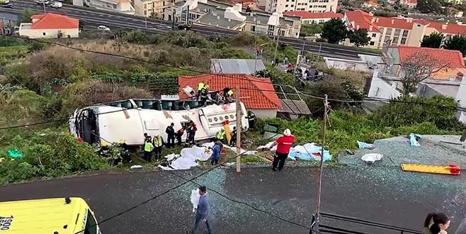 Portekiz'de otobüskazası:29 ölü