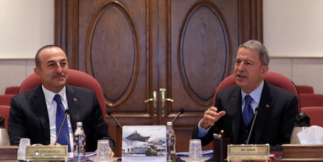 Akar-Çavuşoğlu görüşmesinin ardından MSB'den açıklama