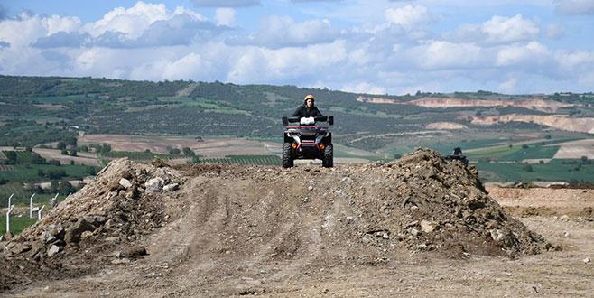Motocross pistininyapımı başladı