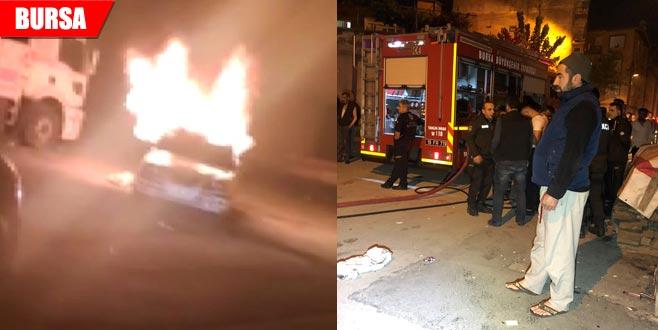 Korkutan yangın! Mahalleli sokağa döküldü...