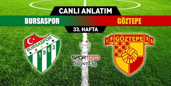Bursaspor 0-0 Göztepe (CANLI ANLATIM)