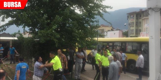 Otobüs şoförü ile yolcu arasında kavga