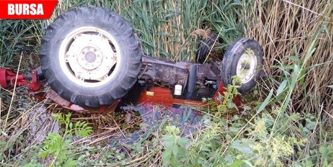 Traktör kazası can aldı