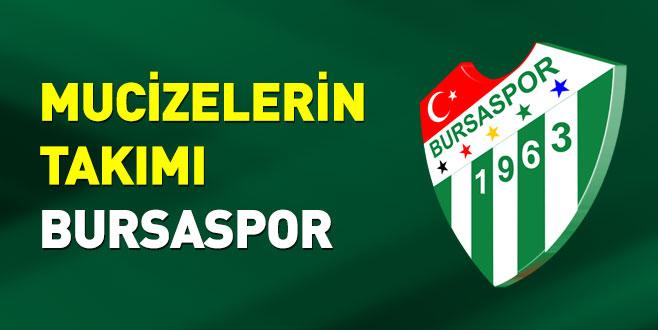 Mucizelerin takımı Bursaspor
