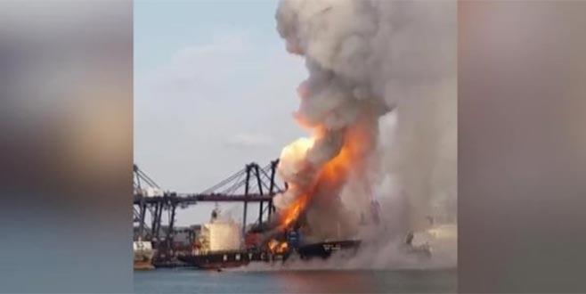 Tayland'da kargo gemisinde patlama: 130 kişi hastanelik oldu