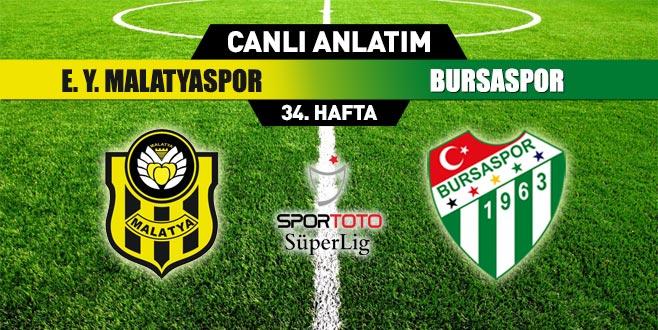 EY Malatyaspor 0-2 Bursaspor (İLK YARI SONUCU)