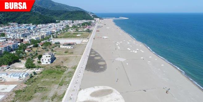 Çalışmalar sona geldi! Tamamlandığında Türkiye'nin en uzun plajı olacak