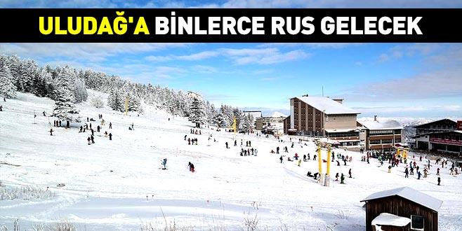 Uludağ'a binlerce Rus gelecek