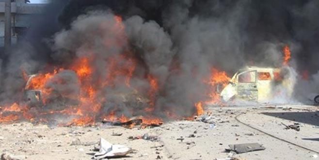 İdlib'in merkezindebombalı araç saldırısı
